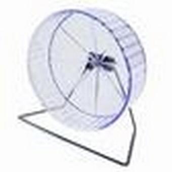 Pennine Fuzzballs kunststof Hamster Wheel op Stand