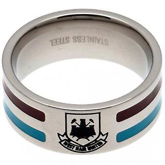 West Ham United kleur Stripe Ring Medium CT
