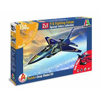 Italeri F16 Fighting Falcon 2X1 Model + Jigsaw