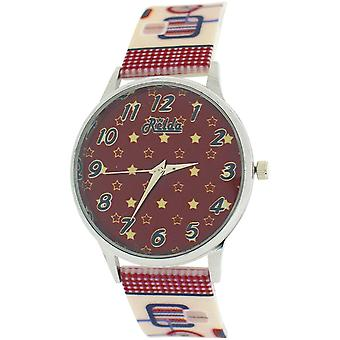 Relda Ladies Analogue Brown Dial Retro Silicone Colourful Strap Watch REL98