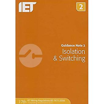 Guidance Note 2: Isolation & Switching (Electrical Regulations)