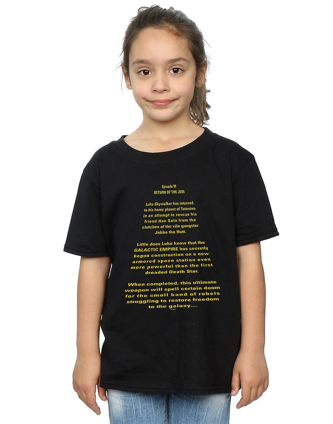 Star Wars Girls Return Of The Jedi Opening Crawl T-Shirt