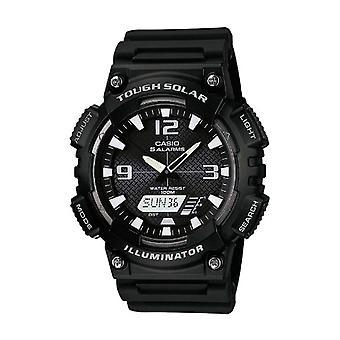 Casio analoog-digitaal horloge quartz mannen met zwarte hars riem AQ-S810W-1av