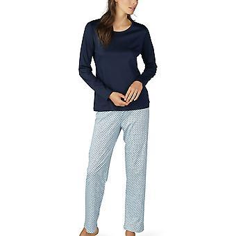 Mey Women 14953-408 Women's Sonja Night Blue Spotted Cotton Pyjama Set
