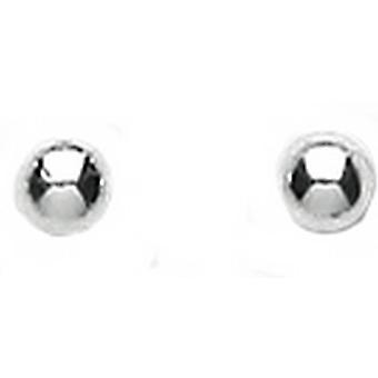 Bella 8mm Ball Stud Earrings - Silver