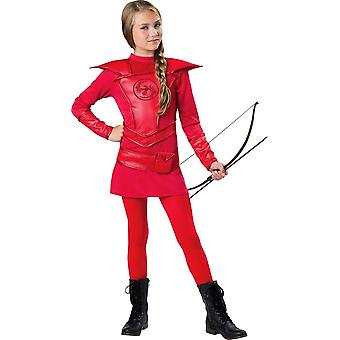 Guerrier rouge chasseresse Costume Teen