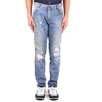 Paolo Pecora Ezbc059045 Men's Blue Cotton Jeans