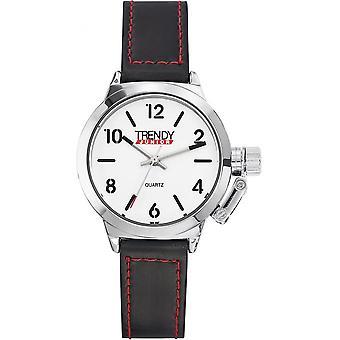 トレンディなジュニア KL318 - 黒い子ラウンド時計