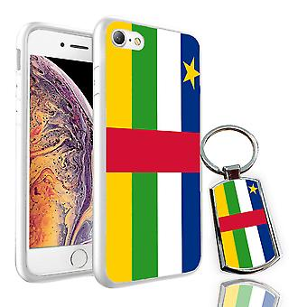 Für Sony Xperia XA1 Ultra-Central African Republic Flag Design Printed White Case Skin Cover + Free Metal Keyring-0033 von i-Tronixs