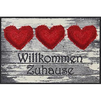 Salon Leeuw deurmat Yasser hart 50 x 75 cm wasbaar vuil mat