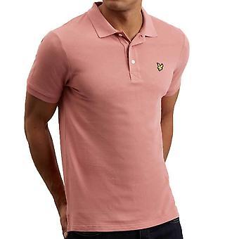 ライルとスコット プレーン ポロシャツ ピンク シャドウ