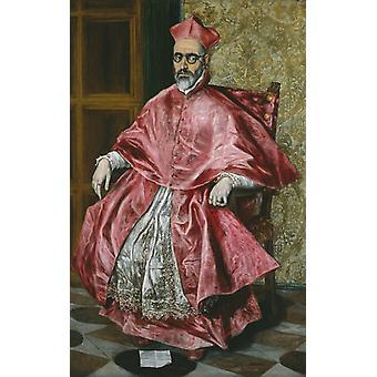 Porträt eines Kardinals, El Greco, 60x37cm