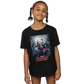 Marvel Studios Girls Avengers Age Of Ultron Poster T-Shirt
