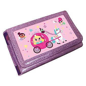 Funda de glitter rosa de princesa unicornio lenticular (Nintendo 3DS XL/2DS XL)