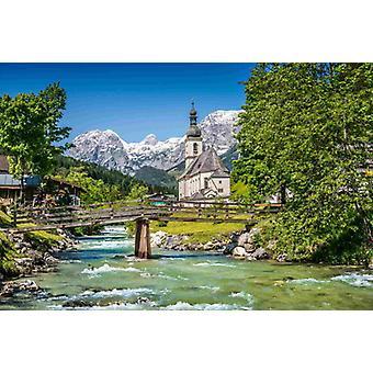 Tapete Wandbild Bayerische Alpen