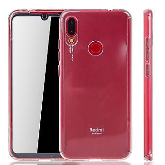 Xiaomi Redmi opmerking 7 telefoon geval bescherming geval volledige dekking tank bescherming glas transparant