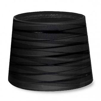 Vestir-se afilado redondo acabamento texturizado preto sombra