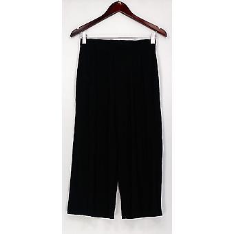 Anybody Pants Loungewear Cozy Knit Foldover Waistband Black A289832