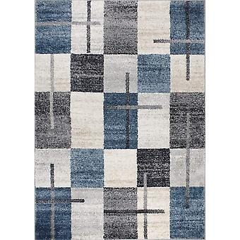 Design carpet of the highest quality Dark Blue/Dark Gray