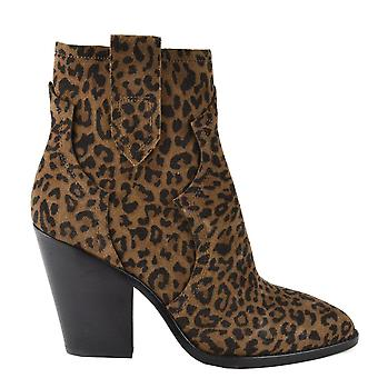 Ash ESQUIRE Heeled Boots Leopard Print Suede