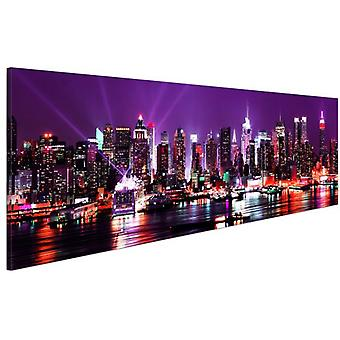 Artgeist Canvas Print Purple Sky Over New York