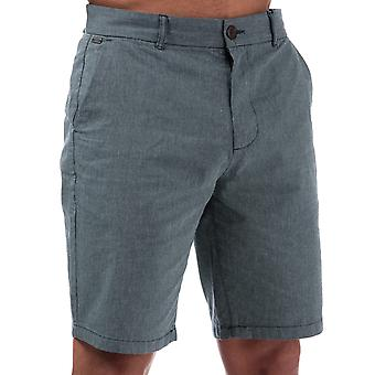 Mens Le Shark Bayomo Cotton Shorts In Navy- Zip Fly With Button Closure At Top-