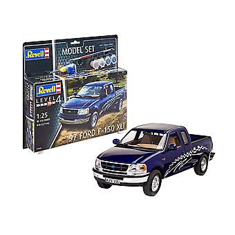 Revell 67045 1997 Ford F-150 XLT Model Set, Bleu, 1/144