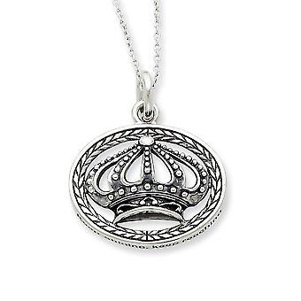 925 Sterling Silver Spring Ring Rodium pläterad finish Keep Shining Fortsätt Nå 18inch Halsband Smycken Gåvor för kvinnor