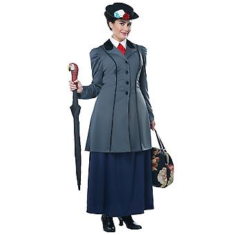 Inglês Nanny Mary Poppins Victorian Magic Maid livro Week Womens costume Plus