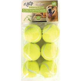 6 Pack extra Bouncy perro fetch Balls