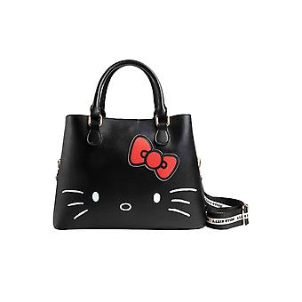 Hello Kitty handväska debossing Bow logo shopper ny officiell svart