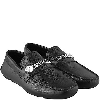 Versace Collection Medusa Chain Logo Loafers