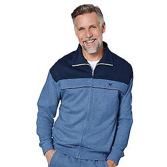 Chums Mens Long Sleeve zip attraverso Fleece