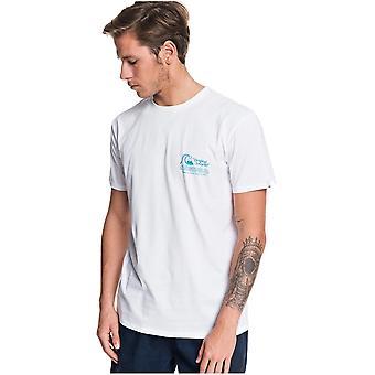 Quiksilver diário de cera manga curta T-shirt em branco