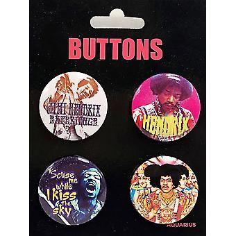 Jimi Hendrix 4 Badge Pack (NM)