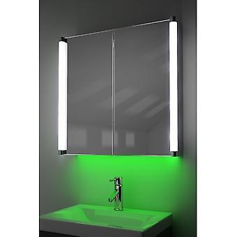 Cabinet de demestiste avec LED sous l'éclairage, le capteur et le shaver interne k317w