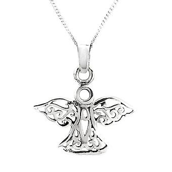 "Celtic Eternity Nonotwork Angel Collana Ciondolo - Include 18"" Catena"