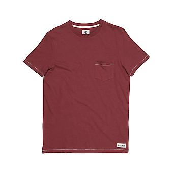 Element Emory Short Sleeve T-Shirt in Oxblood Red