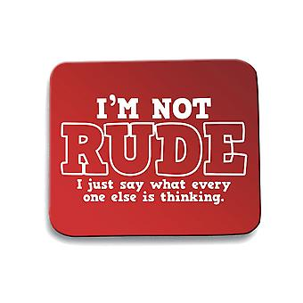Red mouse pad pad trk0763 rude thinking