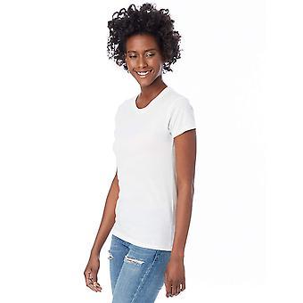 Alternative Women's Basic Short Sleeve Crew Neck Tee, White,, White, Size Large