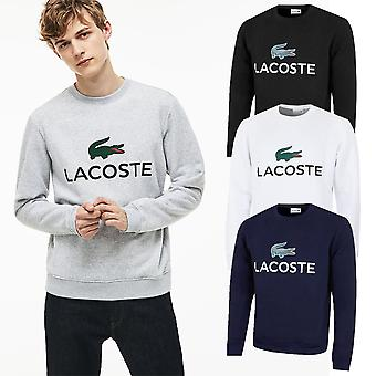 Lacoste Herren klassische gebürstet Fleece langlebig Rundhals Sweatshirt