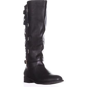 Thalia Sodi Womens Veronika stof gesloten teen knie High Fashion laarzen