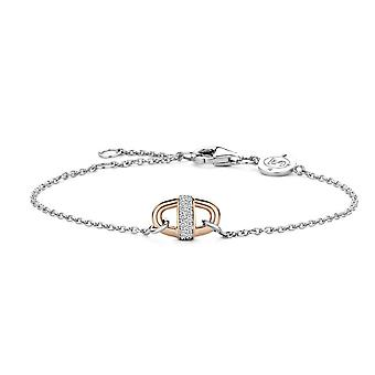 Ti Sento 2900ZR - Bi silver Bracelet bracelet colors Dor Rose and bar e Pav