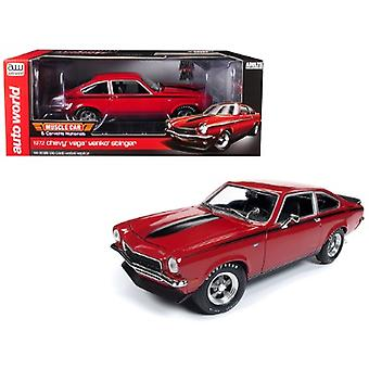 1972 Chevrolet Vega Yenko Stinger MCACN (Muscle Car and Corvette Nationals) Man-O-War Red with Black Stripes Limited Edition to 1002 pieces Worldwide 1/18 Diecast Model Car by Autoworld