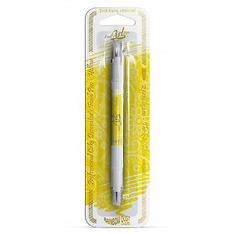 Regenbogen Staub doppelseitige Lebensmittel Stifte essbare Lebensmittel Pen gelb