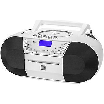 Dual DAB-P 200 Radio CD player DAB+, FM USB, AUX, CD, Tape White