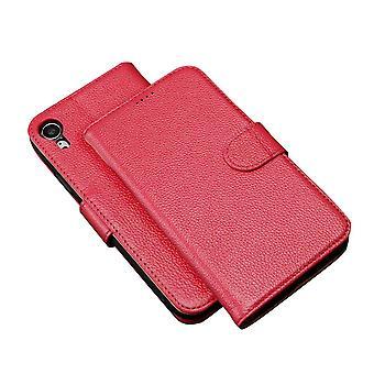 Fashion Pink Cowhide Echte lederen portemonnee voor iPhone XR Case