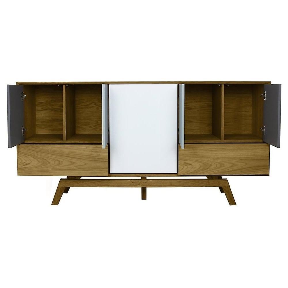 Fusion Living Danish Large Oak And Grey Sideboard