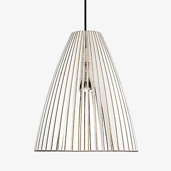 Iumi Teia Large Cone Shaped Birch Plywood Pendant Lamp - White
