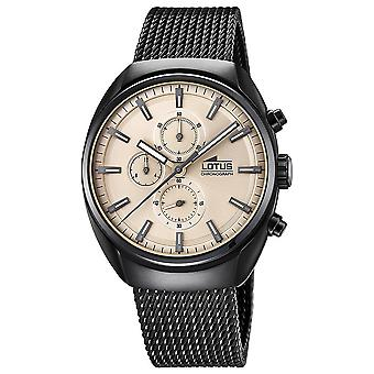 Lotus watches Quartz Analog Man Watch with 18567/A Stainless Steel Bracelet